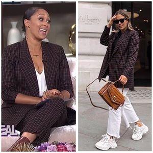 ZARA BLOG •Checkered Double Breasted Blazer Jacket